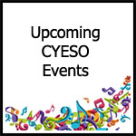 picture of colorful instruments and words upcoming events